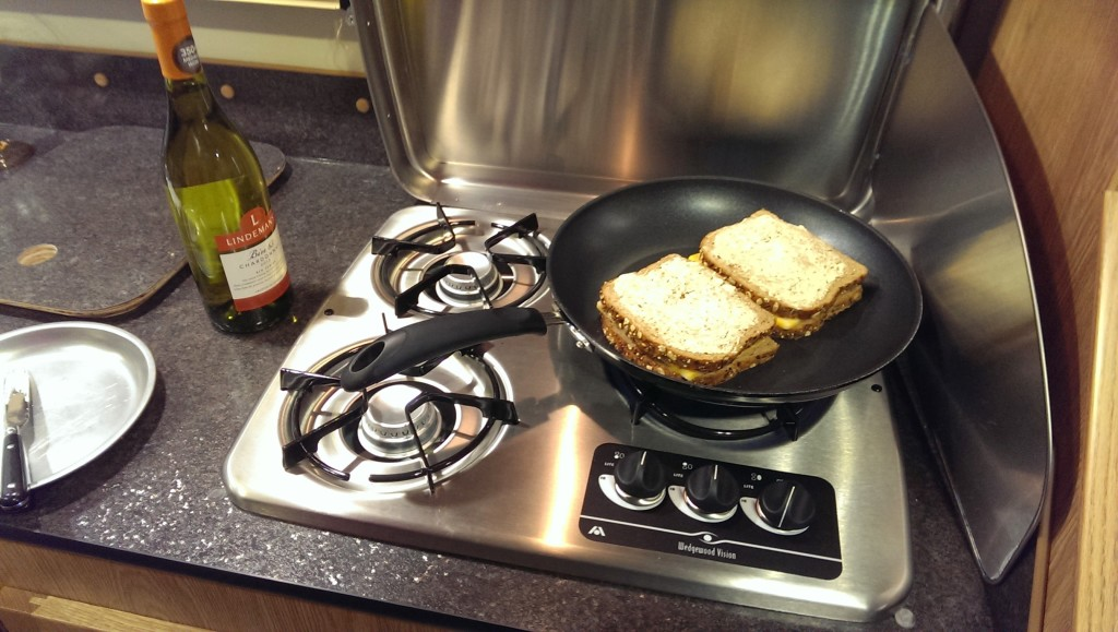 Grilled cheese sandwiches on the stovetop