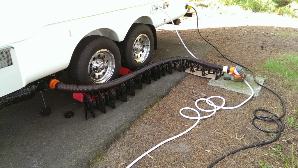 Seasonal rv sewer hookup