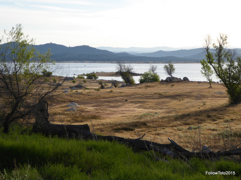 Folsom Lake, California... low water.