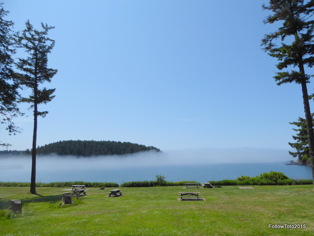Bowman Bay and its giant lawn.