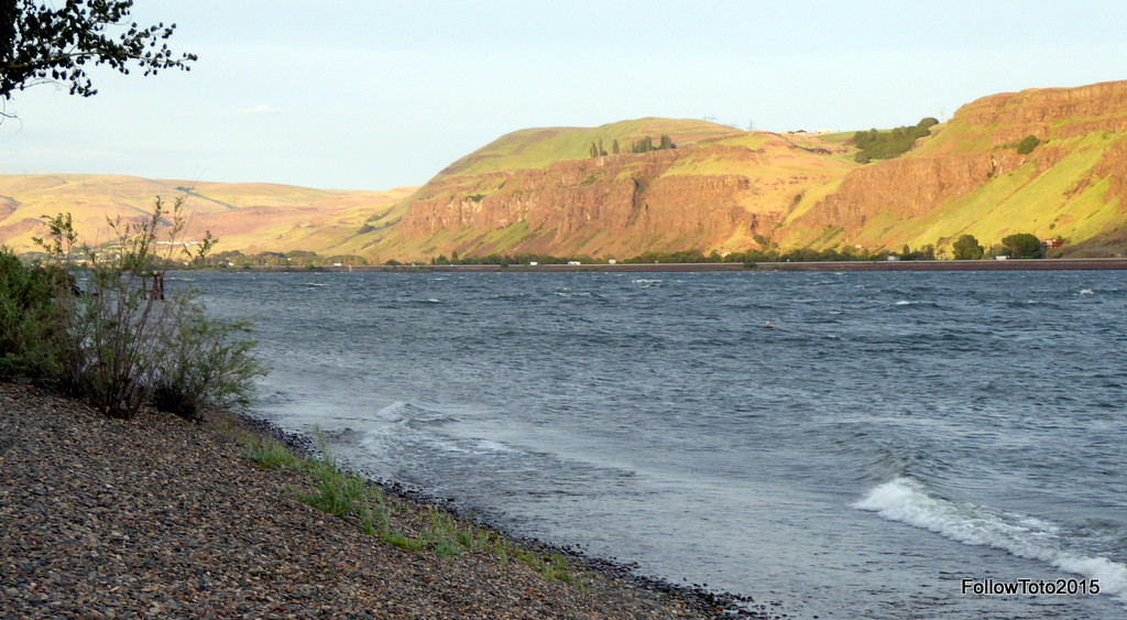 Our own river rock beach at Maryhill.
