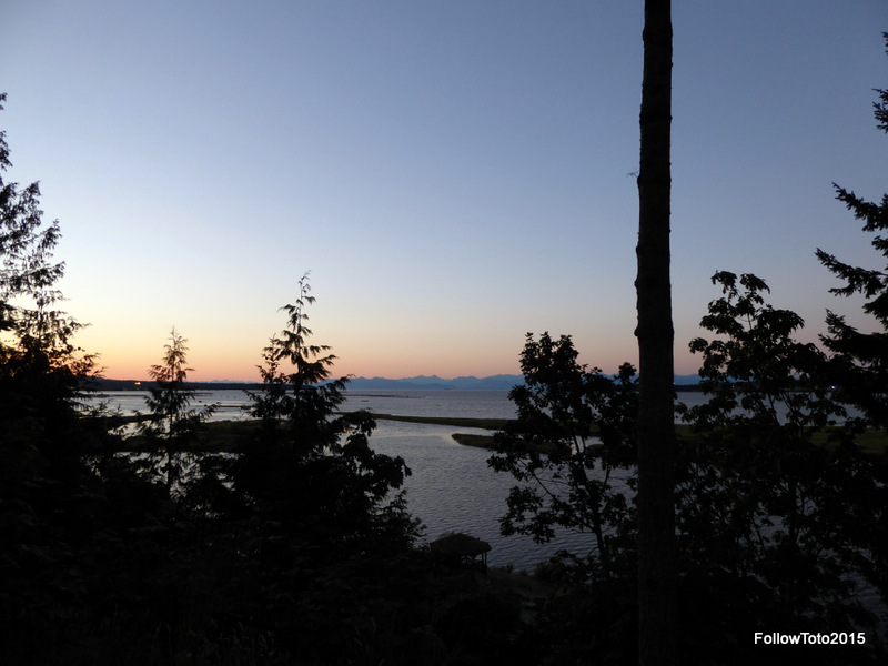View of Georgia Strait from Nanaimo campsite.