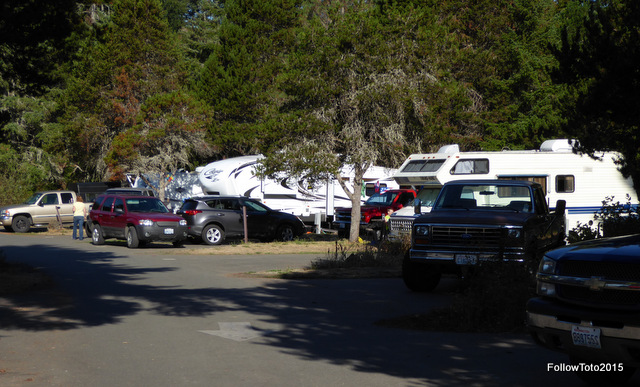 Packed, busy campground