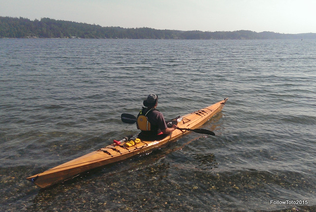 Doug heads out from the Hood Canal shoreline