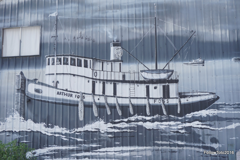 This mural adorns a building in Port Townsend's Yacht Haven district. Nice.