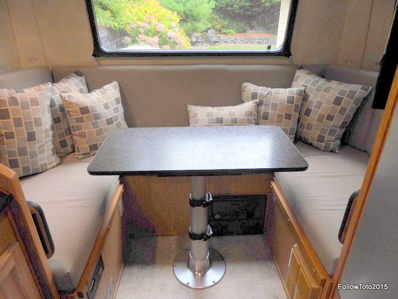 New Improved Dinette Table For Our Escape 21 Follow Toto